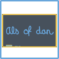Cursus Nederlands - als of dan